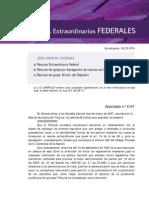 Forma para interponer El RECURSO EXTRAORDINARIO FEDERAL