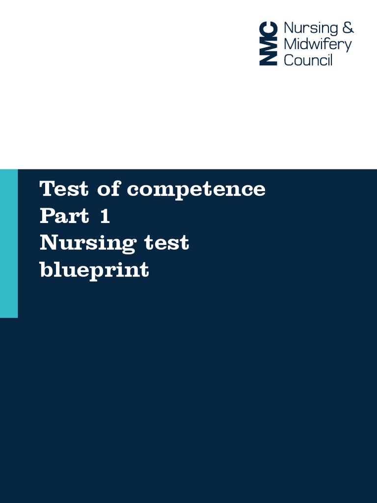 Test of competence part one nursing test blueprint competence test of competence part one nursing test blueprint competence human resources nursing malvernweather Image collections