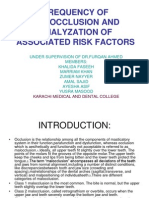 Frequency of Malocclusion and Analyzation of Associated Risk