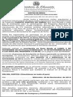 Convocatoria 4to Sorteo de Obras, Programa Nacional de Edificaciones Escolares