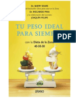 Tu Peso Ideal Para Siempre - BARRY SEARS
