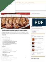 Receta de Lomo de Cerdo Asado Con Salsa de Crema de Calvados _ Sabores de México