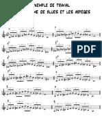 piano jazz-exemples de travail gamme Blues Et Arpèges