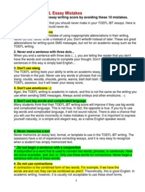10 Common TOEFL Essay Mistakes  | Correlation And Dependence | Argument