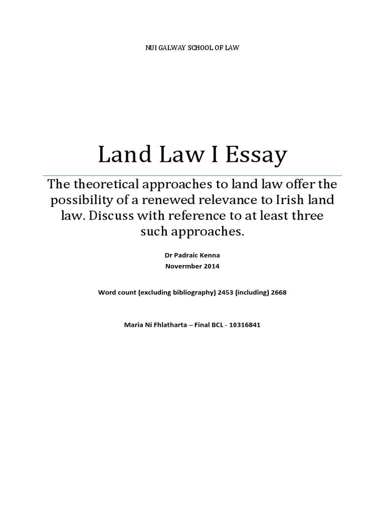 Land law essay