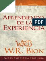 Aprendiendo de La Experiencia [Wilfred Bion]