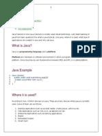 Java Tutorial