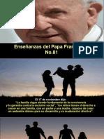 Enseñanzas Del Papa Francisco - Nº 81