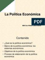 A La Politica Economica