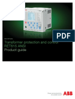 Transformer Protection and Control RET615