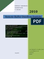 Remote Buffer overflow exploits