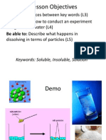 Solubility Year 7 Ppt