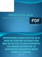 Diapositivas Proyecto de Aula Institución Educativa Santo Tomas de Aquino Guarne
