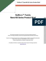 NuMicro Nano100 (B) Series Product Brief en V1.00