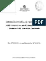 Ley de Violencia Familiar - Provincia de Formosa - Argentina
