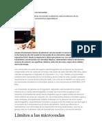 Tratamiento de Alimentos Con Microondas
