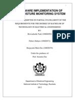 Hardware Implementation of Soil Moisture Monitoring System