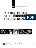21 Puntos Coalicion Radiodifusion Democratica 2004 Argentina