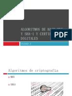 Algoritmos de Hash MD5 y SHA-1 y Certificados