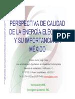 Perspectiva de Calidad de La Energia Electrica y Su Importancia en Mexico