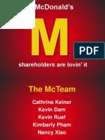 Mcdonald's Project Presentation