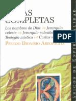 Pseudo Dionisio Areopagita, Obras completas