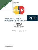 ejemplo de planes locales de salud