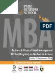 MBA Business & Physical Asset Management Quinta Edicion PMM Business School
