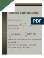 Funcoes Tipicas de Uma Variavel Complexa