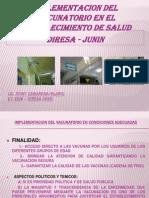 Implementacion Del Vacunatorio