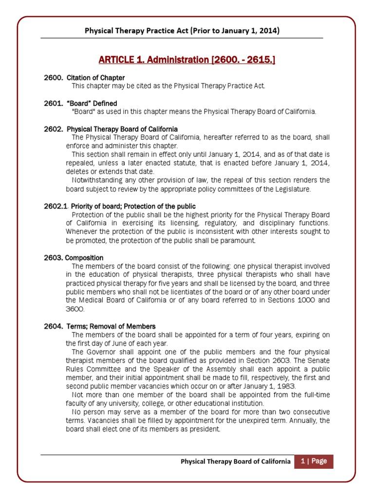 Board california physical therapy - Board California Physical Therapy 4