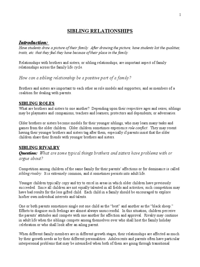 Sibling Rivalry Teacher Cheat Sheet Sibling Social Psychology
