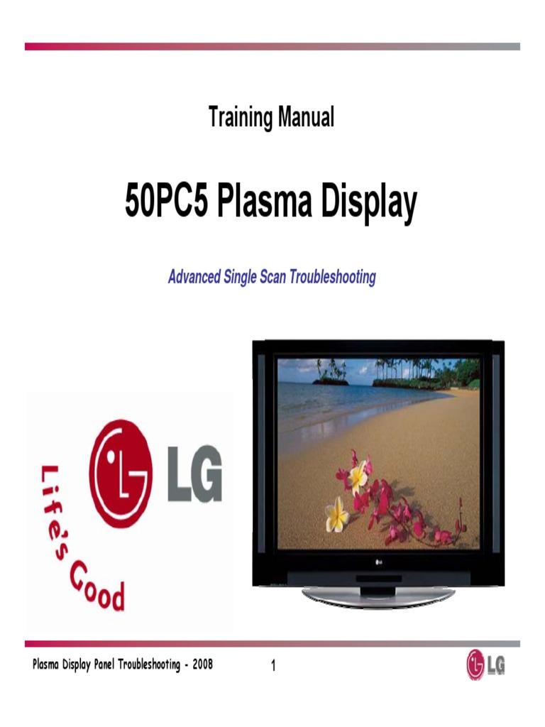 lg 50pc5 training manual power supply electrostatic discharge rh scribd com LG Plasma TV 42PC5D LG Plasma Parts