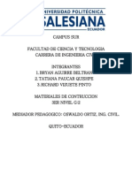 Calculo de Mamposteria Universidad Politecnica Salsiana