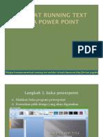 Membuat Running Text Pada Power Point