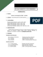 Normativa Salvamento y Socorrismo 1ª Jornada (13!12!14)