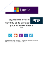 Comment diffuser le contenu de votre Windows Phone