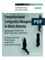 Transaction-based Configuration Management for Mobile Networks