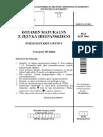 Matura 2009 - język hiszpański - poziom podstawowy - arkusz maturalny (www.studiowac.pl)