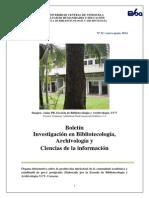 Boletín EBA Investigación N°1 / enero-junio 2014