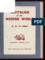 1- Libro - g d h Cole - Capitalism in the Modern World