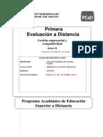 Primera Evaluacion Gestion Empresarial 2014 II