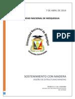 Sostenimiento Con Madera; Diseño de Estructuras Mineras