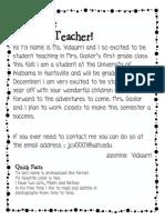 meet the teacher parents