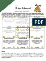 homework - term 4 week 9