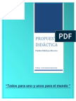 Propuesta Didactica Nueva