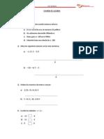 Examen de Algebra 5to