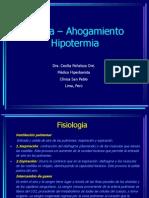 10.- Ahogamiento Asfixia Hipotermia Dra. Peñaloza 2009