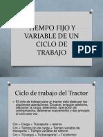 maquinarias y equipos:Tiempo Fijo y Variable de Un Ciclo