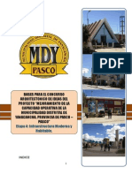 Bases Del Concurso de Ideas - Muncipalidad Distrital de Yanacancha